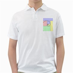Golden Spiral Logarithmic Color Golf Shirts