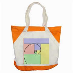 Golden Spiral Logarithmic Color Accent Tote Bag by Mariart