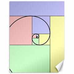 Golden Spiral Logarithmic Color Canvas 18  X 24   by Mariart