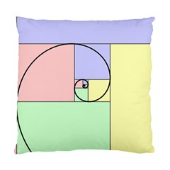Golden Spiral Logarithmic Color Standard Cushion Case (two Sides) by Mariart