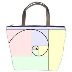 Golden Spiral Logarithmic Color Bucket Bags by Mariart