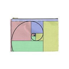 Golden Spiral Logarithmic Color Cosmetic Bag (medium)