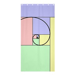 Golden Spiral Logarithmic Color Shower Curtain 36  X 72  (stall)  by Mariart