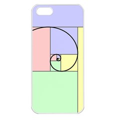 Golden Spiral Logarithmic Color Apple Iphone 5 Seamless Case (white) by Mariart