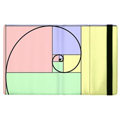 Golden Spiral Logarithmic Color Apple Ipad 2 Flip Case by Mariart