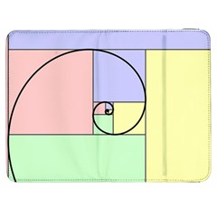 Golden Spiral Logarithmic Color Samsung Galaxy Tab 7  P1000 Flip Case by Mariart