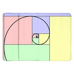 Golden Spiral Logarithmic Color Samsung Galaxy Tab 8 9  P7300 Flip Case by Mariart