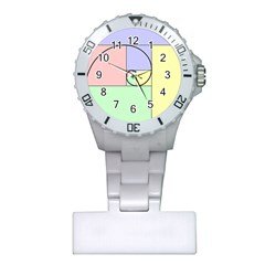 Golden Spiral Logarithmic Color Plastic Nurses Watch by Mariart