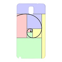 Golden Spiral Logarithmic Color Samsung Galaxy Note 3 N9005 Hardshell Back Case by Mariart