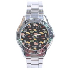 Funky Pattern Polka Wave Chevron Monster Stainless Steel Analogue Watch
