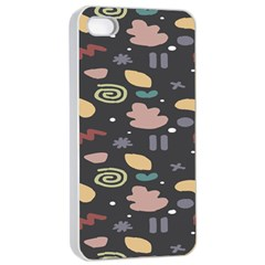 Funky Pattern Polka Wave Chevron Monster Apple Iphone 4/4s Seamless Case (white) by Mariart