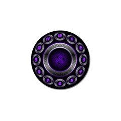 Digital Celtic Clock Template Time Number Purple Golf Ball Marker by Mariart