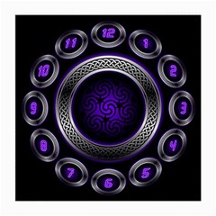 Digital Celtic Clock Template Time Number Purple Medium Glasses Cloth (2 Side) by Mariart