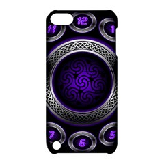 Digital Celtic Clock Template Time Number Purple Apple Ipod Touch 5 Hardshell Case With Stand by Mariart
