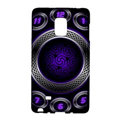 Digital Celtic Clock Template Time Number Purple Galaxy Note Edge by Mariart