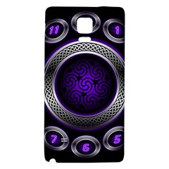 Digital Celtic Clock Template Time Number Purple Galaxy Note 4 Back Case by Mariart