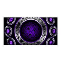 Digital Celtic Clock Template Time Number Purple Satin Wrap by Mariart
