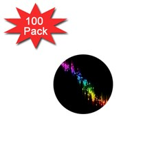 Illustration Light Space Rainbow 1  Mini Buttons (100 Pack)  by Mariart
