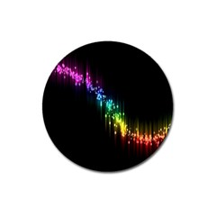 Illustration Light Space Rainbow Magnet 3  (round) by Mariart