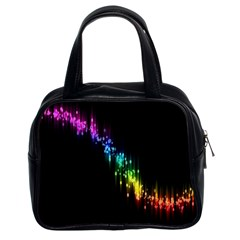 Illustration Light Space Rainbow Classic Handbags (2 Sides) by Mariart