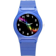 Illustration Light Space Rainbow Round Plastic Sport Watch (s) by Mariart