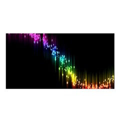 Illustration Light Space Rainbow Satin Shawl by Mariart