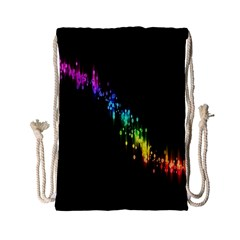Illustration Light Space Rainbow Drawstring Bag (small) by Mariart