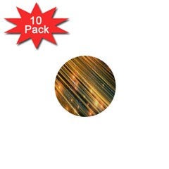 Golden Blue Lines Sparkling Wild Animation Background Space 1  Mini Buttons (10 Pack)