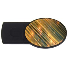 Golden Blue Lines Sparkling Wild Animation Background Space Usb Flash Drive Oval (4 Gb) by Mariart