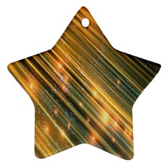 Golden Blue Lines Sparkling Wild Animation Background Space Star Ornament (two Sides) by Mariart