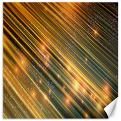 Golden Blue Lines Sparkling Wild Animation Background Space Canvas 16  X 16   by Mariart