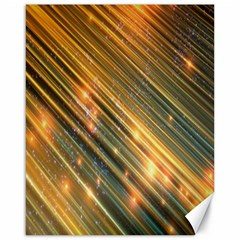 Golden Blue Lines Sparkling Wild Animation Background Space Canvas 16  X 20   by Mariart