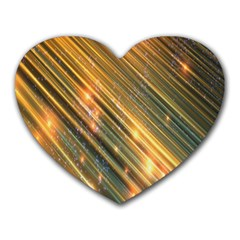 Golden Blue Lines Sparkling Wild Animation Background Space Heart Mousepads by Mariart