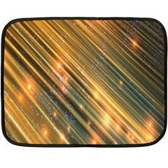 Golden Blue Lines Sparkling Wild Animation Background Space Fleece Blanket (mini) by Mariart