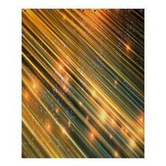 Golden Blue Lines Sparkling Wild Animation Background Space Shower Curtain 60  X 72  (medium)  by Mariart