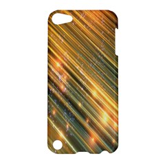 Golden Blue Lines Sparkling Wild Animation Background Space Apple Ipod Touch 5 Hardshell Case by Mariart
