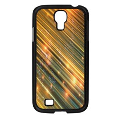 Golden Blue Lines Sparkling Wild Animation Background Space Samsung Galaxy S4 I9500/ I9505 Case (black) by Mariart