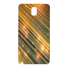 Golden Blue Lines Sparkling Wild Animation Background Space Samsung Galaxy Note 3 N9005 Hardshell Back Case by Mariart