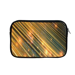 Golden Blue Lines Sparkling Wild Animation Background Space Apple Macbook Pro 13  Zipper Case by Mariart