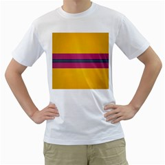 Layer Retro Colorful Transition Pack Alpha Channel Motion Line Men s T-shirt (white)  by Mariart
