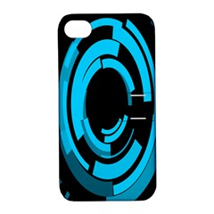 Graphics Abstract Motion Background Eybis Foxe Apple Iphone 4/4s Hardshell Case With Stand by Mariart