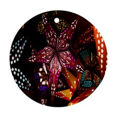 Hanging Paper Star Lights Ornament (round) by Mariart