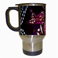 Hanging Paper Star Lights Travel Mugs (white) by Mariart