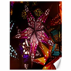 Hanging Paper Star Lights Canvas 36  X 48   by Mariart