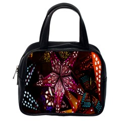 Hanging Paper Star Lights Classic Handbags (one Side) by Mariart