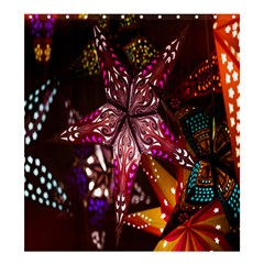 Hanging Paper Star Lights Shower Curtain 66  X 72  (large)  by Mariart
