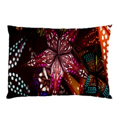 Hanging Paper Star Lights Pillow Case (two Sides) by Mariart