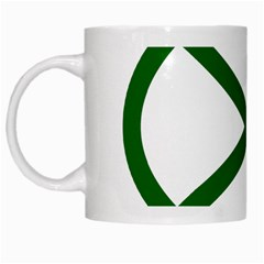 Lissajous Small Green Line White Mugs by Mariart
