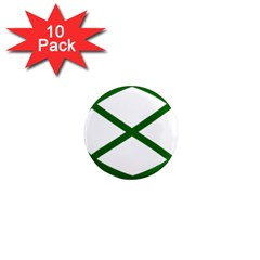 Lissajous Small Green Line 1  Mini Magnet (10 Pack)  by Mariart