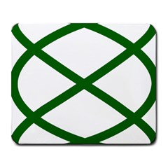 Lissajous Small Green Line Large Mousepads by Mariart
